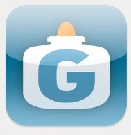 Get Glue logo, glue bottle