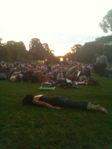 Planking before Moonlight Cinema movie comes on