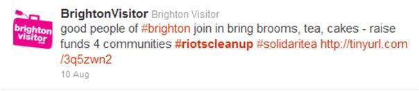 Brighton clean up tweet