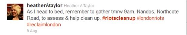 Northcote clean up tweet