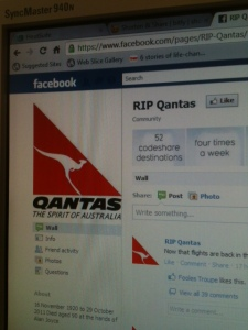 Qantas unofficial Facebook Page