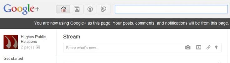 GooglePlus Page reminder