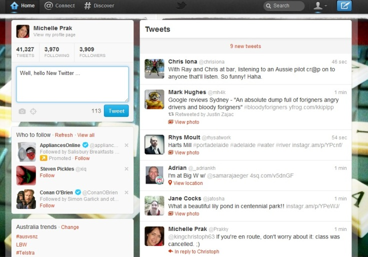 This is how my new Twitter looks