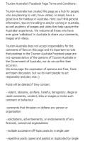 Tourism Australia Facebook guidelines