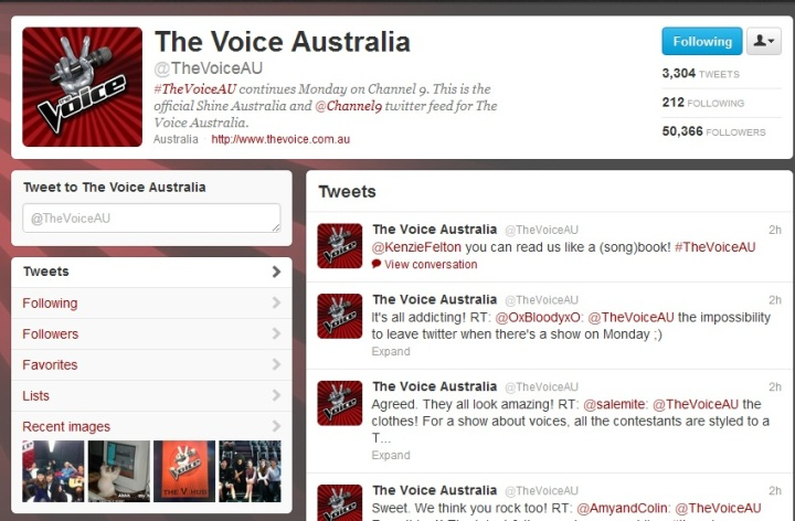 The Voice AU on Twitter