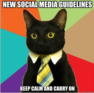 New social media guidelines: keep calm and carry on