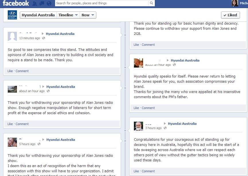 Hyundai Australia Facebook page