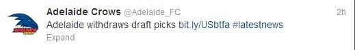 Adelaide Crows tweet
