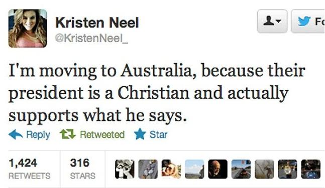 Kristin Neel tweet