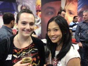 @zannawho and @amytran010 at the Digital Hub event.