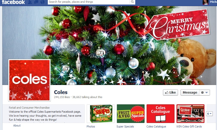 coles facebook page - Coles Christmas Decorations