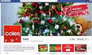 Supermarket Coles's current cover image on Facebook.