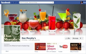 Dan Murphy aptly celebrates its product in its Facebook cover image.