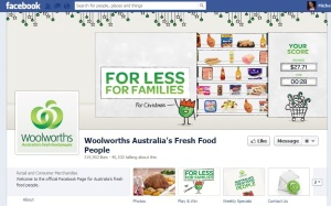 The Woolworths Facebook cover image features its seasonal competition, with a focus on savings.
