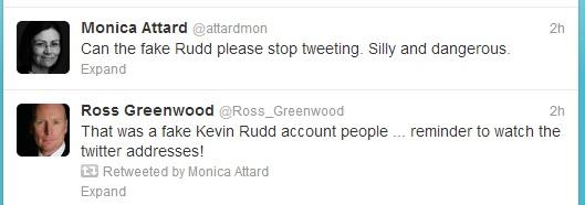Media fake Rudd-related tweets