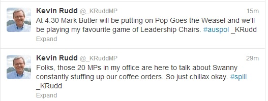 Fake K Rudd tweets