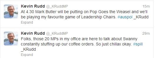 Fake K Rudd tweets