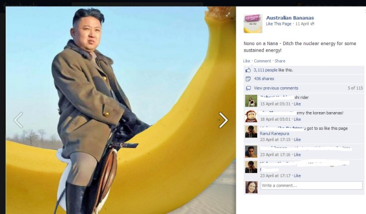 Australian Bananas Facebook page