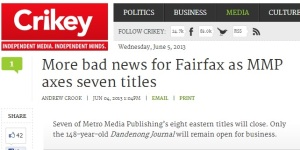 Crikey article, 4 June 2013