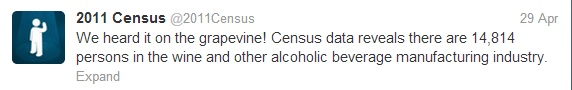 Census 2011 Tweet