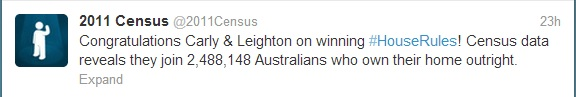 Census 2011 tweet - in 2013