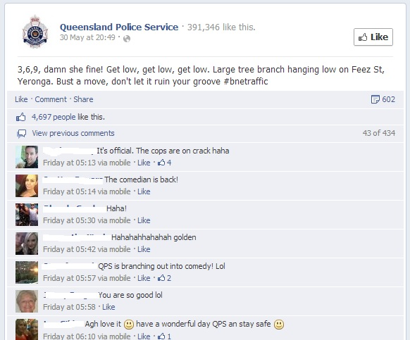 Qld Police Facebook post