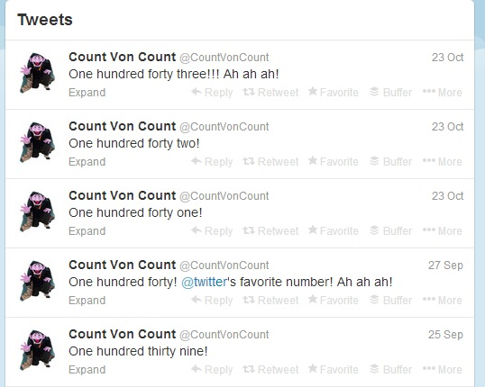 Count von  Count on Twitter