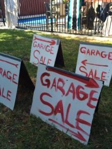 Garage sale signs all ready to go!
